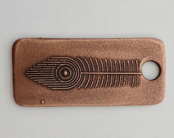 Pendant Copper - Feather (H198)