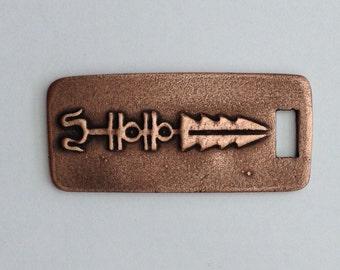 Pendant Copper - Mexican Symbol (H201)