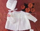 "Baby Set 18-19"" DK Sirdar 3191 Vintage Knitting Pattern PDF instant download"