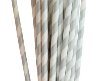 Silver Drinking Retro Paper Straws for Birthday Party Wedding Decoration