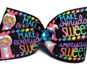 Dog hair bows, dog bows, Bubblegum hair bow, toddler hair bow, headband