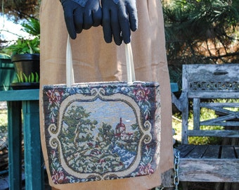 Embroidered Scenic Purse