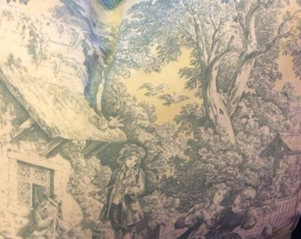 24in Scenic toile pillow cover