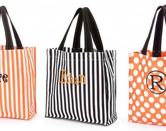 Monogrammed Halloween Treat Candy Bag Tote