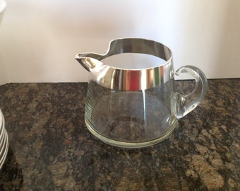 Short Dorothy Thorpe Silver Band Pitcher