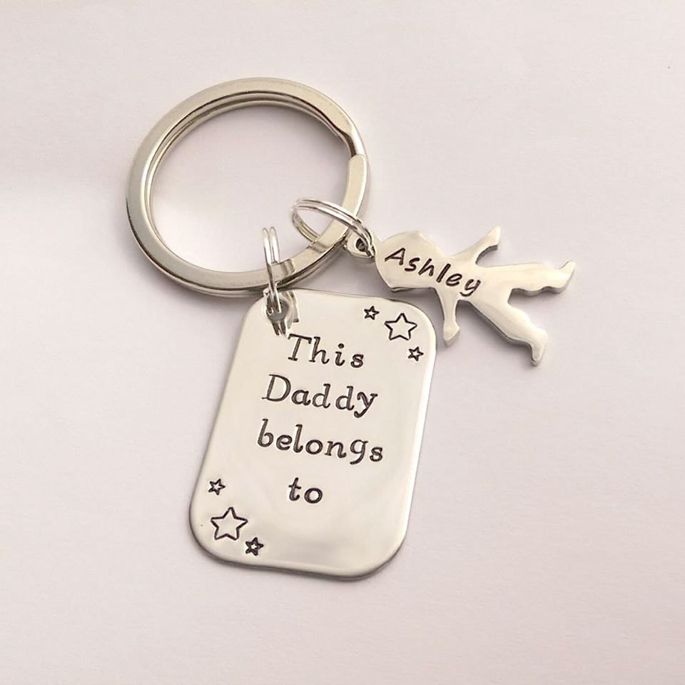 Personalised Dad Daddy present - This Daddy Grandad Grandpa Uncle belongs to personalized keychain - personalised
