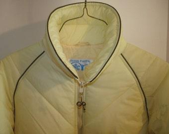 Ocean Pacific OP Ski Jacket large adult men xlarge women banana light yellow British Hong Kong