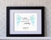 8x10 Custom Print- Baby Miscarriage Print: All Our Love Until We Meet Again