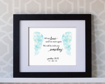 8x10 Custom Print- Baby Miscarriage Print: All Our Love Until We Meet Again