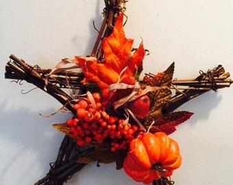Autumn star wall/door hanger