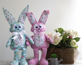 Rupert and Piper Rabbit Pattern by Paula Storm Designs, Softie Toy for Baby, Baby Toy, Animal Softie Pattern, Australian Designer