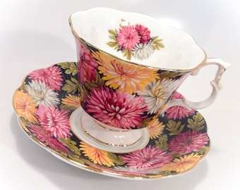 Vintage Royal Albert Bone China England Christine Tea Cup and Saucer Set