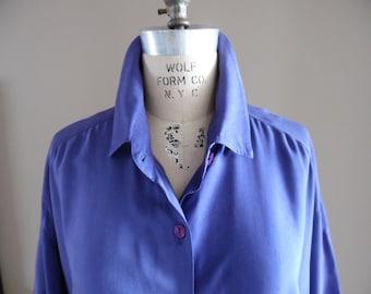 Unique, Vintage Early1990s Wrap Dress by Vintage Blue