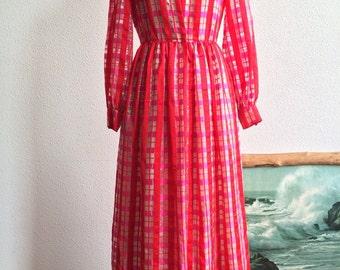 1960's/70's Vibrant Printed Holiday Dress