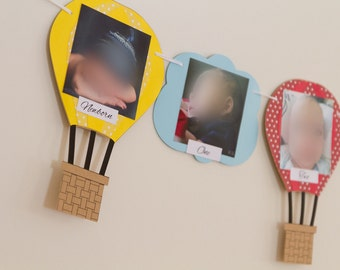 NEW!!!! Hot air balloon Photo Banner 1st bday