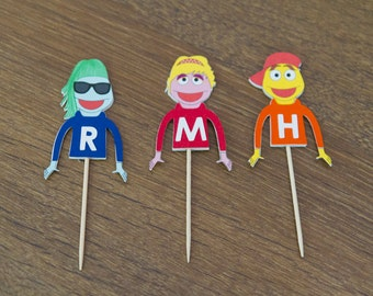 Rock-a-baby puppets cupcake toppers (set of 12)