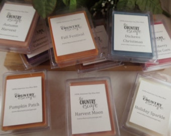 3 Six Packs Wax Melts - Choose from 200+ Scents -100% American Soy- Maximum Scented