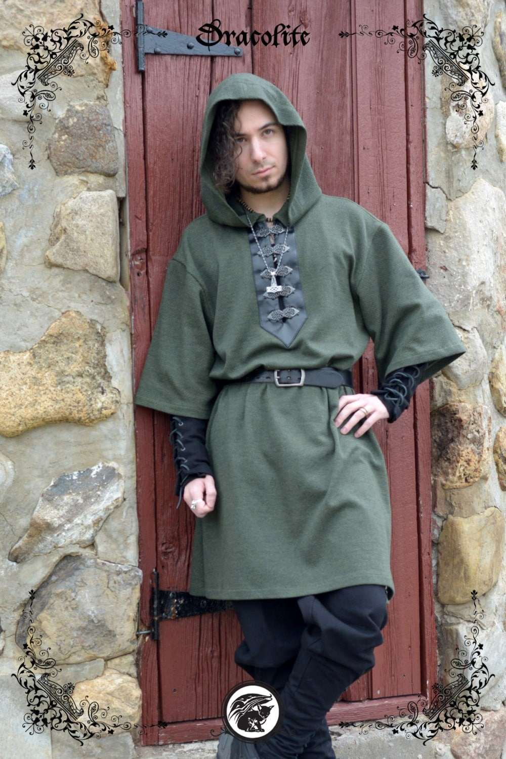 Viking tunic medieval clothing for men larp costume and