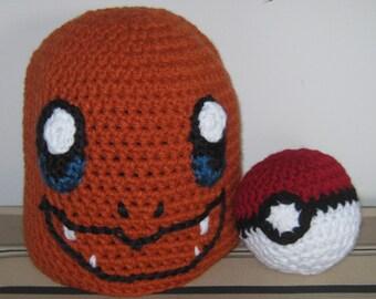 Charmander Hat w/free Pokeball