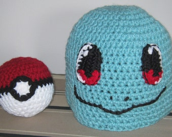 Squirtle Hat w/free Pokeball