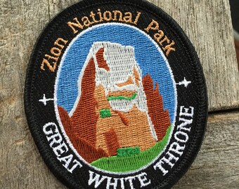 Zion National Park Great White Throne Souvenir Travel Patch