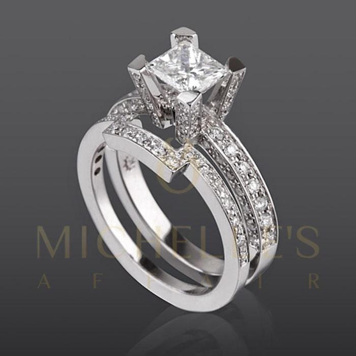 2 1 3 Carat Diamond Engagement Ring F VVS2 Princess Cut