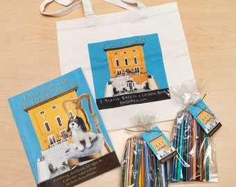 """Coloring Book gift pack - """"Follymops and the French Chateau"""" (Color) - Cavalier King Charles spaniels"""