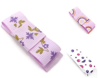Set Of Purple Hair Clips/ Big Hair Clips For Girls/ Big Snap Clips/ Trio Of Purple Hair Clips
