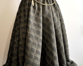 skirt steampunk green diamonds short front/  along the back