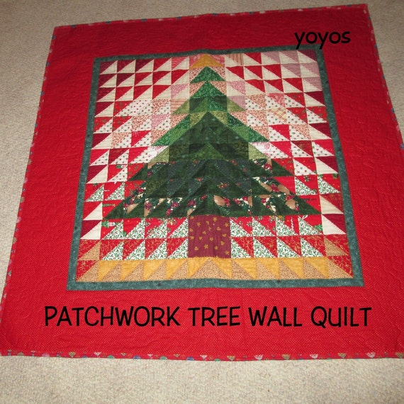Wall quilt tree patchwork hanging table cover holiday home