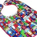 Nutcracker Bib: Christmas baby bib, red minky holiday bib, winter bib with snap, gender neutral toddler bib