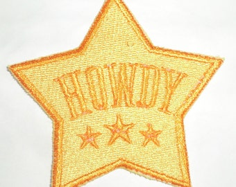 Iron-On Patch - HOWDY BADGE