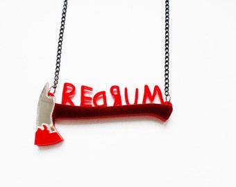 REDRUM -The Shining inspired neckace