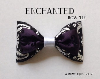enchanted clip on bow tie