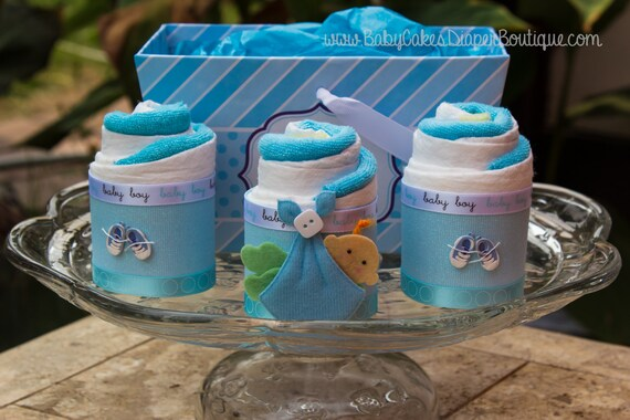 Baby Shower Gift for Boy | Diaper Cake Cupcake Basket | Diaper Cake Gift | Baby Shower Gift | It's a Boy | Baby Boy