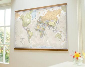 Classic world map - Medium