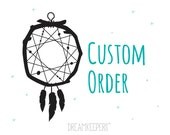Mini dreamcatcher mobile for Marielle
