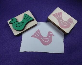 stamp Bird / Dove, 5.2 x 3.5 cm (S10-0015A)