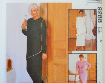 McCall's Sewing Pattern 9288 Misses' Tunic, Pants and Skirt in Size 10.Palmer and Pletsch Pattern.Real People Fit