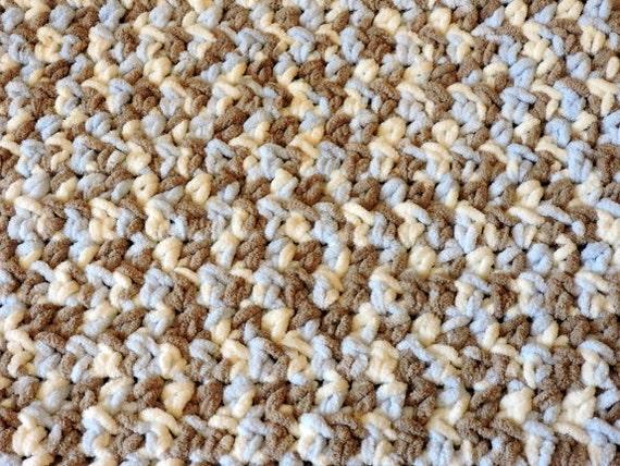 Crochet Baby Blanket Patterns Variegated Yarn : Crochet Baby Blanket Chunky Baby Boy Blanket Crochet Blanket