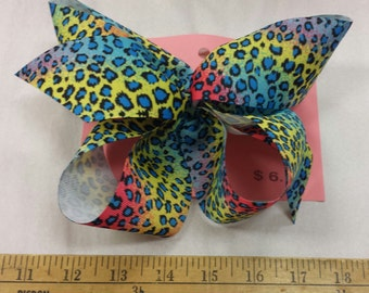 Bright Leopard Bow