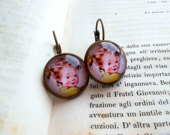 Vintage child earrings