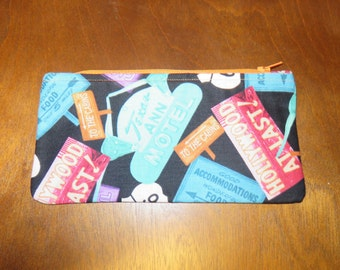 Route 66 Zipper Pouch