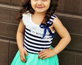 Boutique custom girls sailor tutu dress toddler ftcb