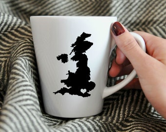 United Kingdom, England Porcelain Mug.  Adoption, Travel, Mission, Custom