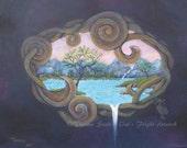 Art Print Dream World Pea...