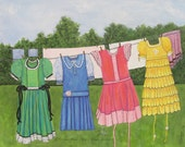 Dresses on Clothes Line F...