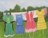 Art Print Little Dresses ...