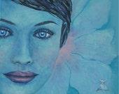 Blue Eyes Flower Girl Go ...