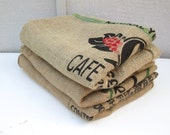 Burlap Coffee Bags, 3 Burlap Coffee Sacks, Coffee Bags, Burlap Sacks, Coffee Sacks, Used Coffee Sacks